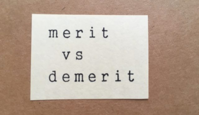 merit vs demerit