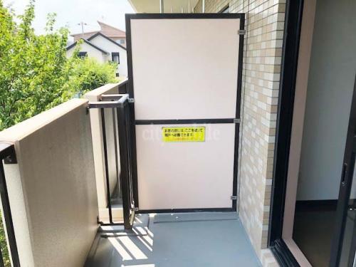 コーポレート竹の塚五丁目>バルコニー