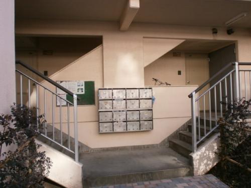 木場公園平野住宅>エントランス、メールボックス