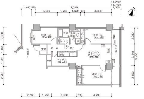 ハーモネスタワー松原 30階 3LDK ...